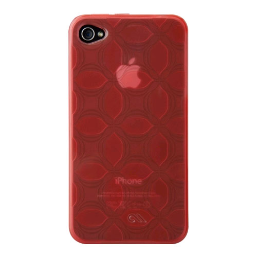 Case-Mate Gelli Flexible Yet Strong TPU Case for Apple iPhone 4/4S - Tomato