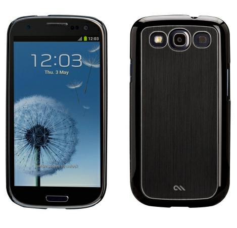 Case-Mate Barely There Case for Samsung Galaxy S3 - Brushed Aluminum Black