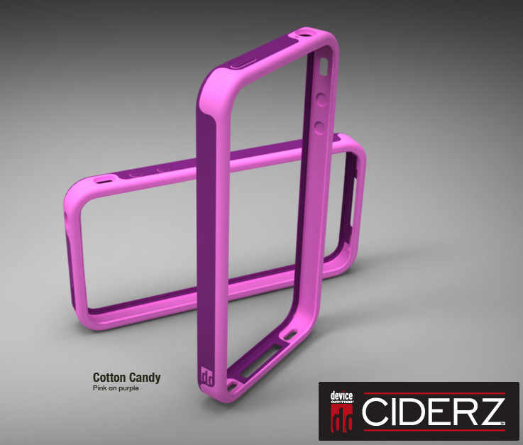 BodyGuardz Ciderz iPhone 4 Bumper - Pink / Purple (Cotton Candy)