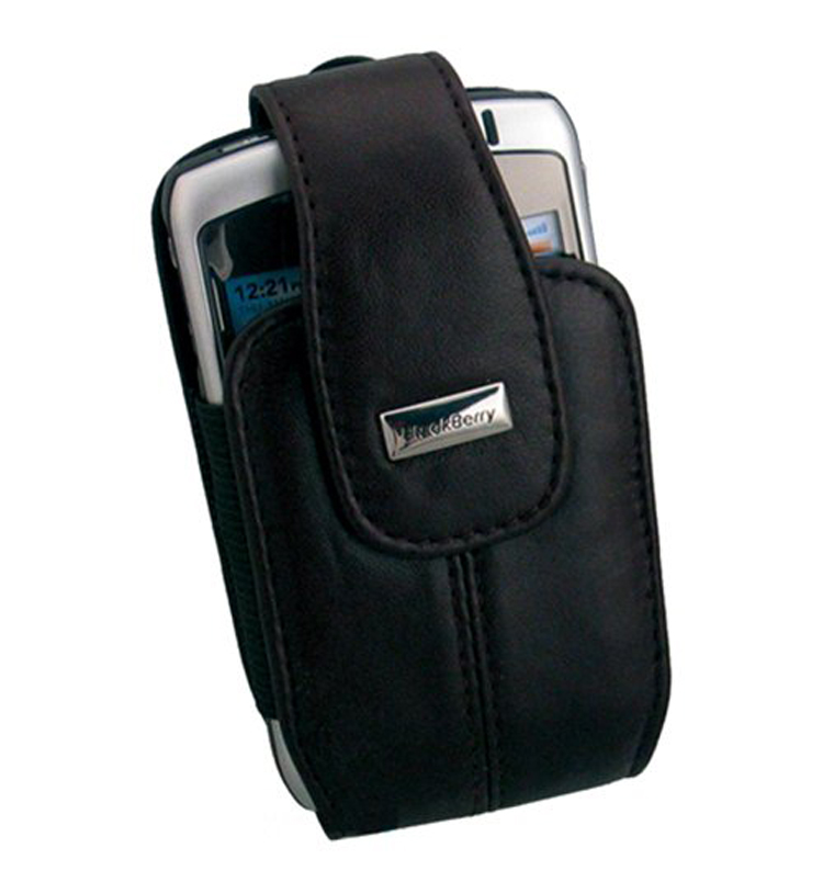 OEM BlackBerry Leather Holster for 8300, 8310, 8320, 8330 Curve (Black)