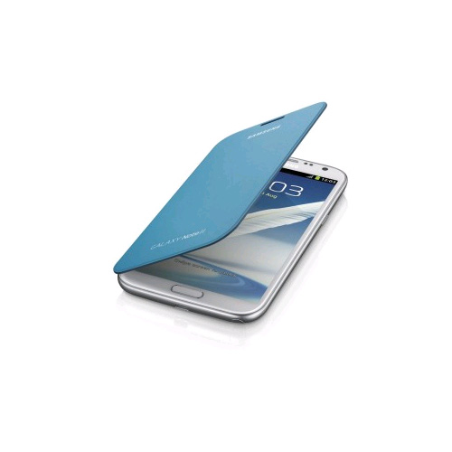 OEM Samsung Galaxy Note 2 Flip Cover Case (Light Blue)