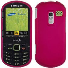 Wireless Rubber Case for Samsung M570 Restore - Hot Pink