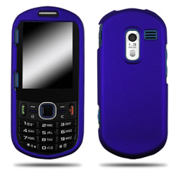 Wireless Mobile Rubber Shield for Samsung R570 Messager III - Blue