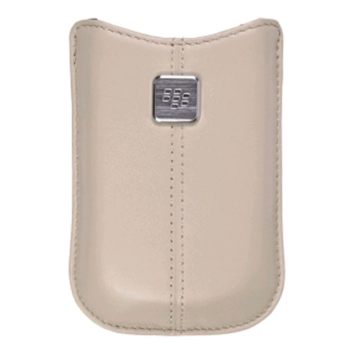 OEM BlackBerry Pearl Flip 8220 Kickstart Leather Pocket Case (Oyster)