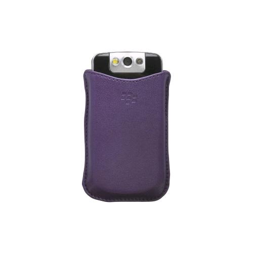 Blackberry - Synthetic Pocket Case for Blackberry 8220  - Purple