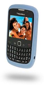Blackberry Rubber Skin Case for Blackberry 8500 Curve2 Series - Frost Light Blue