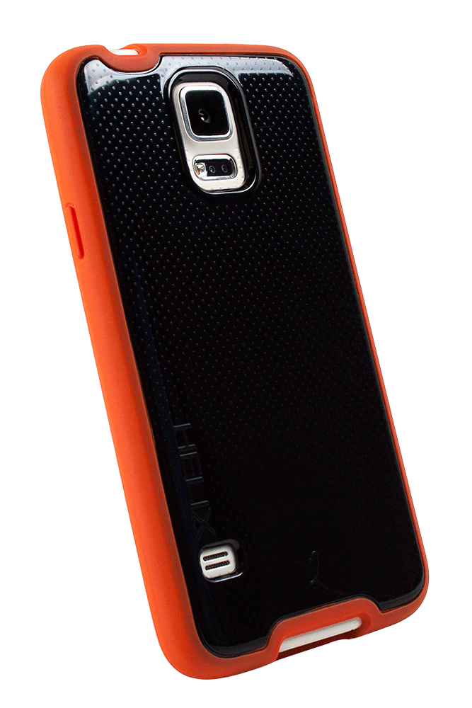 WirelessOne Helix Case for Samsung Galaxy S5 (Black/Red)