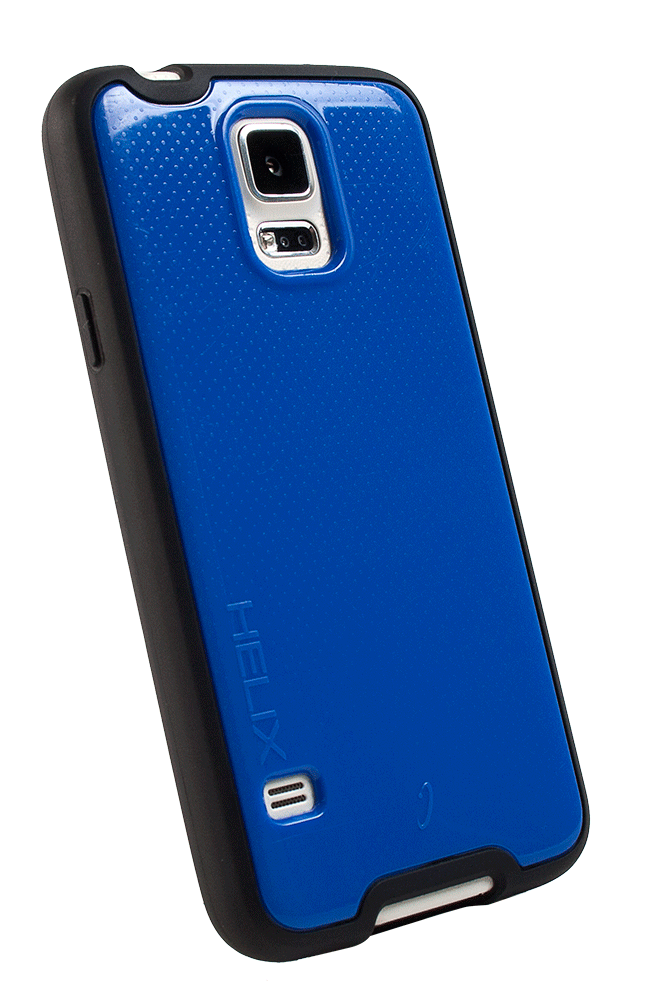 WirelessOne Helix Case for Samsung Galaxy S5 (Blue/Black)