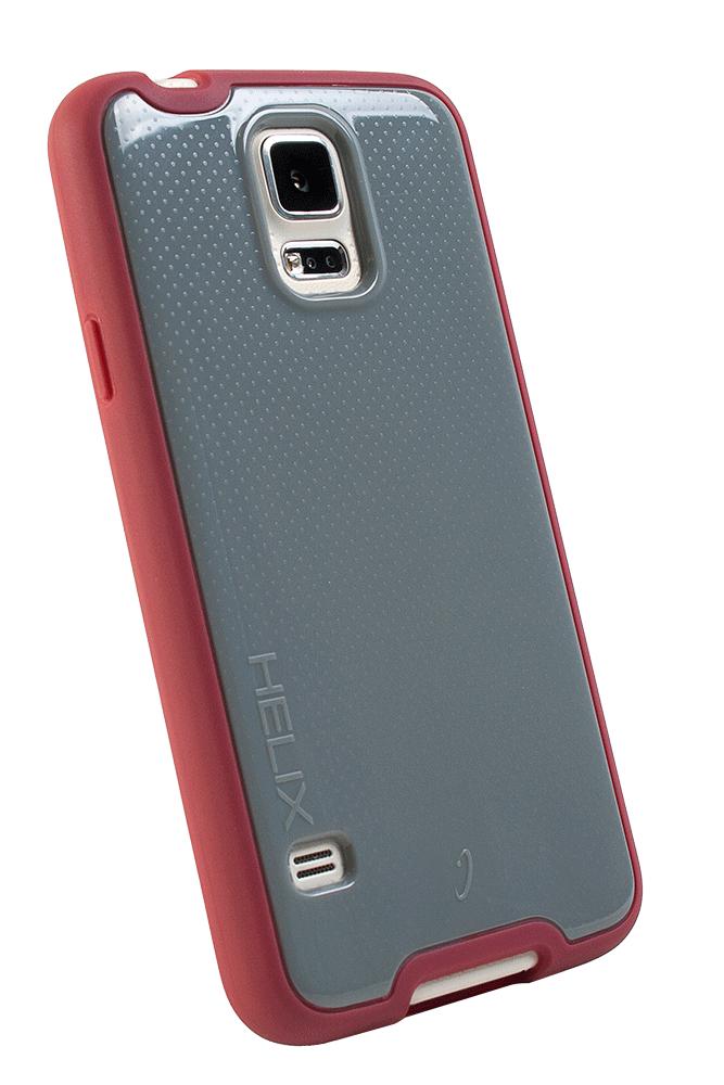 WirelessOne Helix Case for Samsung Galaxy S5 (Grey/Burgundy)