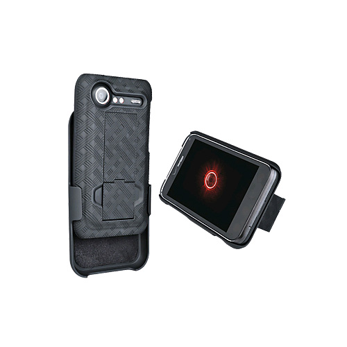 OEM Verizon HTC Incredible 2 ADR6350 Shell Holster Combo with Kickstand (04716) (Bulk Packaging)
