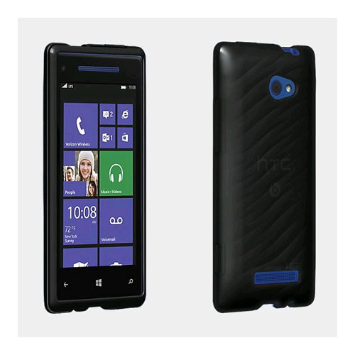 Verizon Wireless High Gloss Silicone Cover for HTC Windows Phone 8X - Black