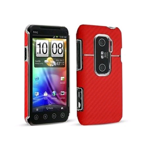Technocel Graphite Shield for HTC Evo 3G - Red