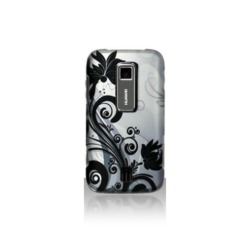 Snap-On Case for Huawei Ascend M860 - Gray Floral