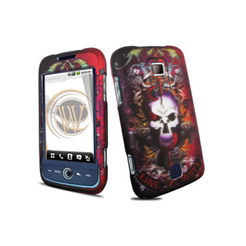 Wireless Accessories Snap-On Case for Huawei Ascend M860 (Love Hurts Skull)