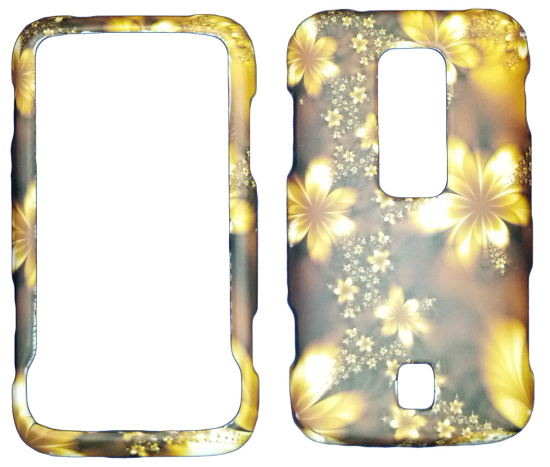 Snap-On Case Case for Huawei Ascend M860 (Brown Floral)