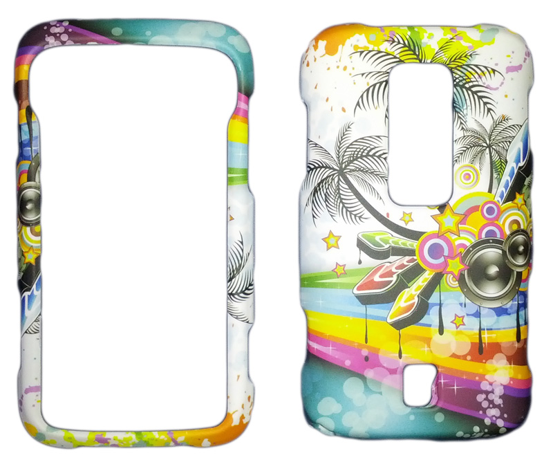 Snap-On Case for Huawei Ascend M860 (White Tropical Music)
