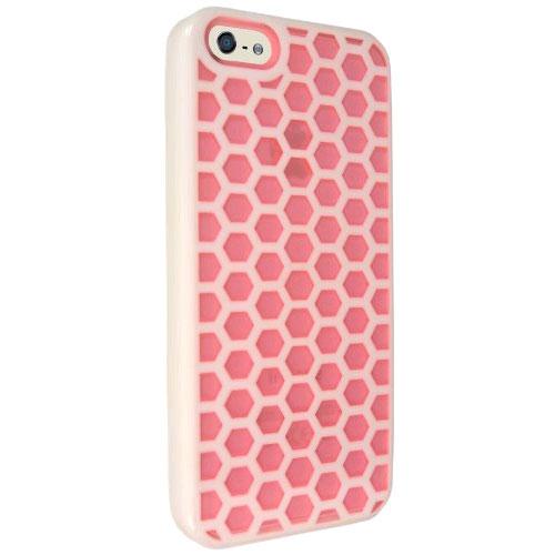 Technocel Honeycomb Hybrigel for Apple iPhone 5 - Pink/White