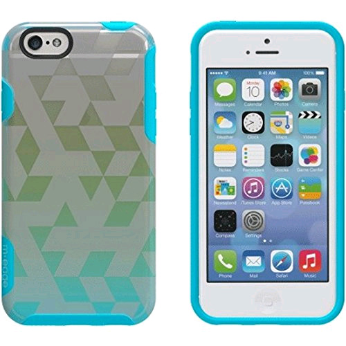 M-Edge Glimpse Case Cover for Apple iPhone 6 / 6s (Tri-Party Aqua/Lime)