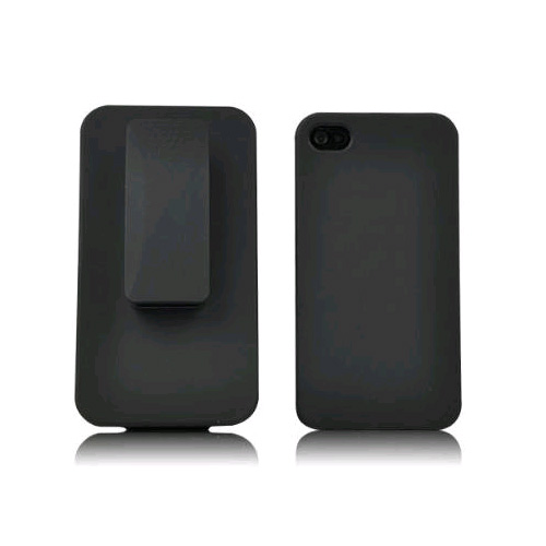 Unlimited Cellular Rubberized Shell Holster Combo for Apple iPhone 4/4S - Black at Sears.com
