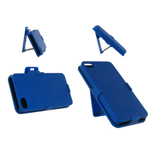 Unlimited Cellular Rubberized Diamond Design Shell Holster Combo for Apple iPhone 4/4S - Electric Blue at Sears.com