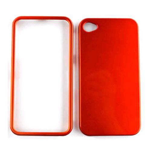 Unlimited Cellular Snap-On Case for Apple iPhone 4/4S (Honey Burn Orange)