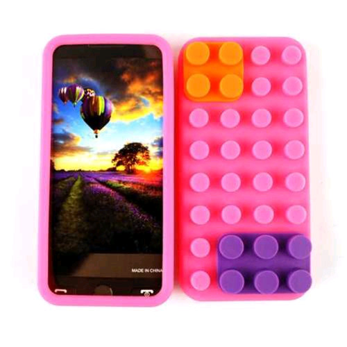 Cell Armor Case Cover for Apple iPhone 5 (Pink Skin with Removable Pieces)
