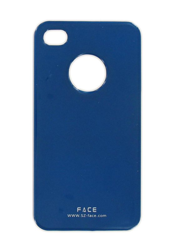 Face iShine Cover Case for Apple iPhone 4  (Blue)