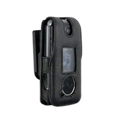 Infinity Padded Lambskin Case w/ Ratcheting Swivel Belt Clip for LG LX570 (Black)
