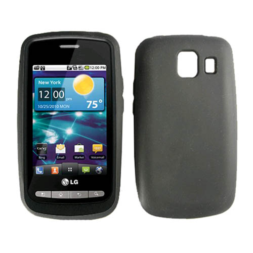 Verizon Silicon Skin Case for LG Vortex VS660 - Black