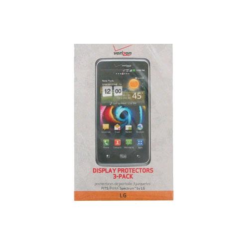 Verizon Screen Protectors for LG PARA Spectrum - 3-Pack