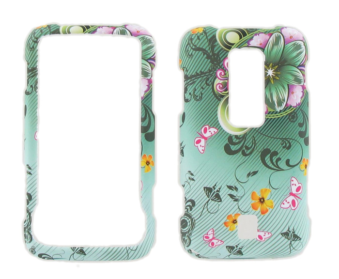 Snap-On Case for Huawei Ascend M860 (Green Floral)