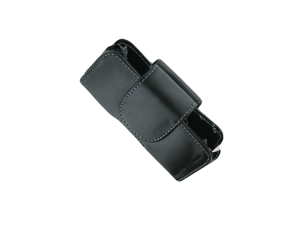 W.A.S.P. Horizontal Magnetic Pouch with Belt Clip for Sanyo Vero SCP3820/Samsung M360 SPH-M360 (Black)