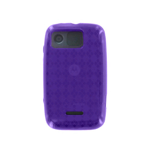 Verizon Motorola Citrus WX445 High Gloss Silicone Case (Purple) (Bulk Packaging)