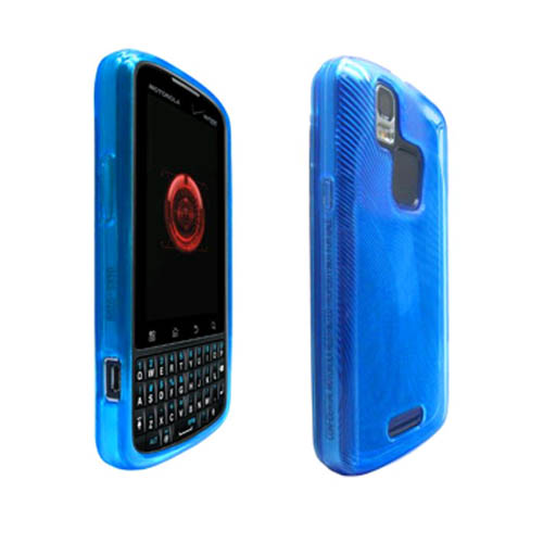 High Gloss Silicone Case for Motorola Droid Pro XT610 - Blue (Bulk Packaging)