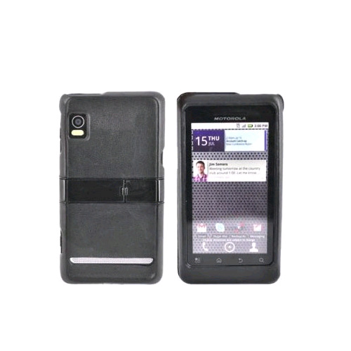 OEM Verizon Snap-On Case with Kickstand for Motorola Droid 2 A955 (Black) (Bulk Packaging)