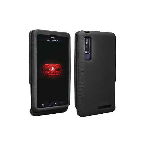 OEM Verizon Snap-On Silicone Cover Case for Motorola Droid 3 (Black) (Bulk Packaging)