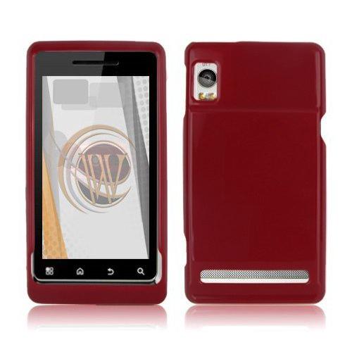 OEM Verizon Hard Rubberized Snap-On Case for Motorola Droid 2 Global A956 (Red) (Bulk Packaging)
