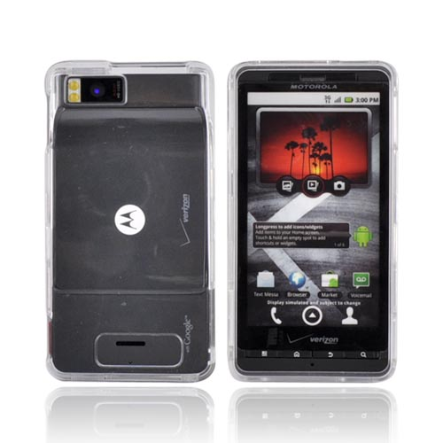 OEM Verizon Snap-On Case for Motorola Droid X MB810 (Clear) (Bulk Packaging)
