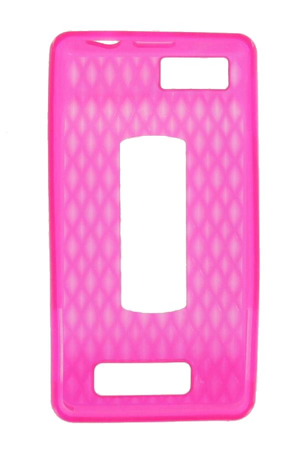 OEM Verizon High Gloss Silicone Case for Motorola Droid X2 MB870 (Pink) (Bulk Packaging)