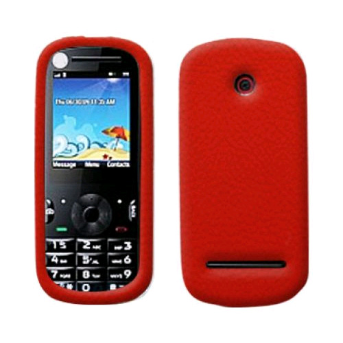 Evercell Silicone Case for Motorola Cadbury VE440 (Red) - MOVE440SCSPRE