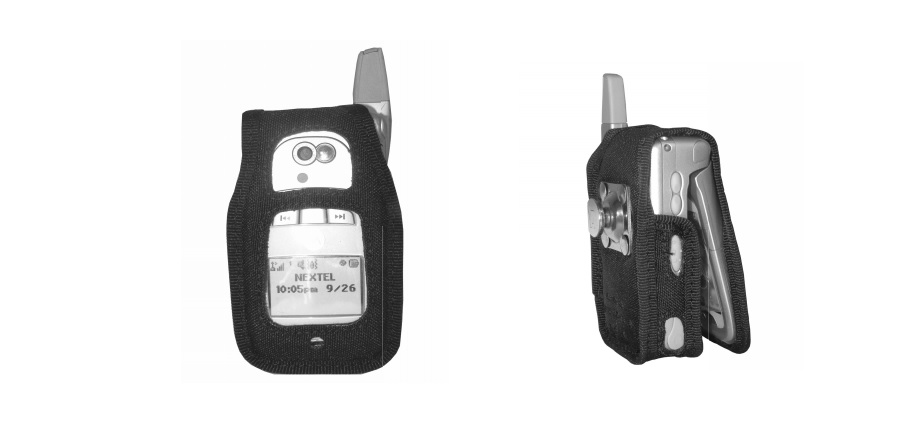 Leather Case with Steel Swivel Clip for i870, i875 - Black