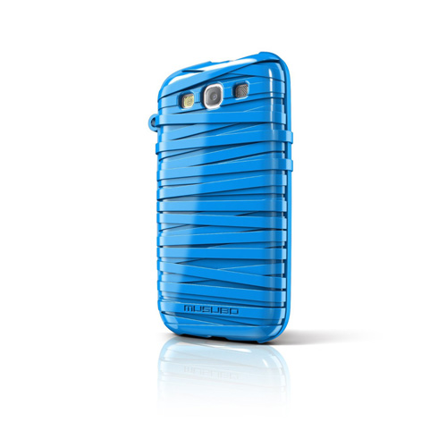 Musubo Rubber Band Case for Samsung Galaxy S3 (Sky Blue)
