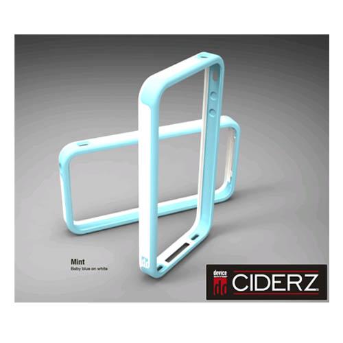 BodyGuardz Ciderz iPhone 4 Bumper - Baby Blue / White (Mint)