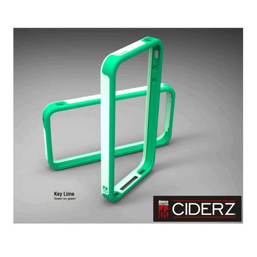 BodyGuardz Ciderz iPhone 4 Bumper - Green / Green (Key Lime)