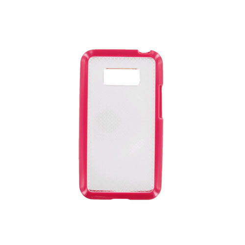 Technocel Hybrigel Case for LG LS696 Optimus Elite - Pink/Clear