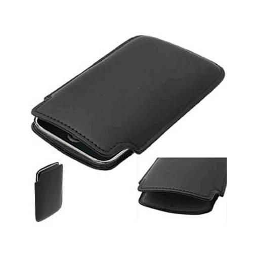 OEM Palm Pre Pre/Plus Leather Sleeve Case - Black (Bulk Packaging)