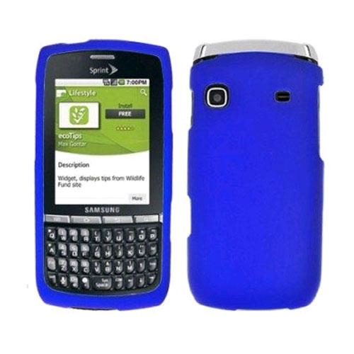 KuKu Mobile Rubberized Snap-on Case for Samsung Replenish - Blue