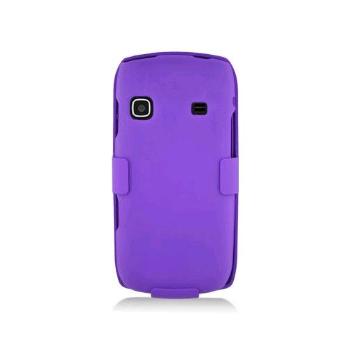 KuKu Mobile Rubberized Snap-on Case for Samsung Replenish - Purple