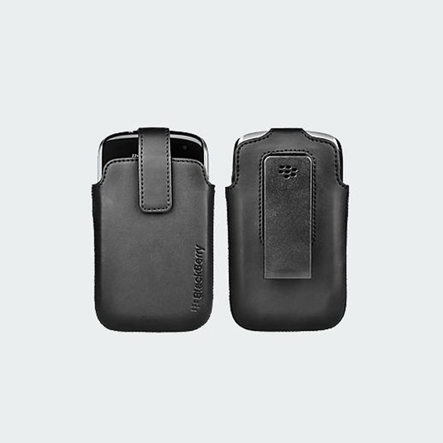 Verizon Leather Pouch for BlackBerry Curve 9370 (Black)