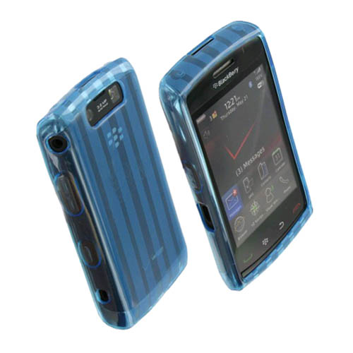OEM Verizon High Gloss Silicone Case for BlackBerry Storm 2 (Blue) (Bulk Packaging)